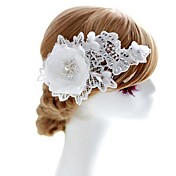 Mujer Niña de flor Encaje Diamantes Sintéticos Tejido Celada-Boda Ocasión especial Flores