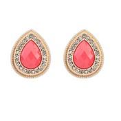 스터드 귀걸이 드랍 귀걸이 유럽의 레진 라인석 합금 드롭 블랙 베이지 그린 핑크 보석류 용 2pcs
