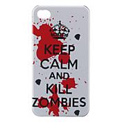 Carcasa Dura de Protección Anti Zombis para el iPhone 4 y 4S