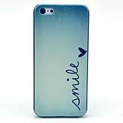 아이폰 5C 미소 나비 패턴 하드 케이스