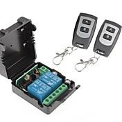 두 리모트 컨트롤러와 12V 2 채널 무선 원격 전원 릴레이 모듈 (DC28V-AC250V)