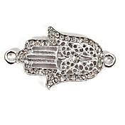 Hollow Rhinestone Hand DIY Charms Pendants for Bracelet & Necklace