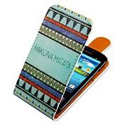 용 삼성 갤럭시 케이스 플립 / 패턴 케이스 풀 바디 케이스 라인 / 웨이브 인조 가죽 Samsung S3