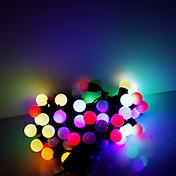 5m 50의 LED 크리스마스 할로윈 장식 조명 축제 스트립 조명-RGB 램프 비즈 (220V)