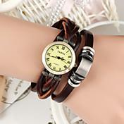 Mujer Reloj de Moda Reloj Pulsera Cuarzo Banda Cosecha Bohemio Marrón