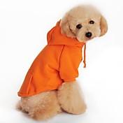 개 후드 레드 / 오렌지 / 블랙 / 그레이 강아지 의류 모든계절/가을 솔리드