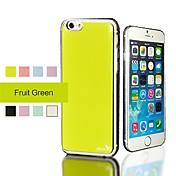 Para Funda iPhone 6 Funda iPhone 6 Plus Resistente al Agua Cromado Funda Cubierta Trasera Funda Un Color Dura Policarbonato paraiPhone 6s