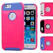 더블 쉘 디자인은 iphone6 (모듬 색상)에 대한 내부의 TPU와 하드 케이스를 다시 상승