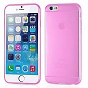 Para Funda iPhone 6 / Funda iPhone 6 Plus Ultrafina / Transparente Funda Cubierta Trasera Funda Un Color Suave SiliconaiPhone 6s Plus/6