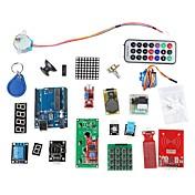kit de aprendizaje de sistema RFID w / uno paso r3 rfid rfid rfid motor módulo tarjeta ic ic llavero basado en Arduino