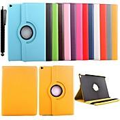 Para Carcasa Funda con Soporte Rotación 360º Cuerpo Entero Funda Color sólido Cuero Sintético para iPad Air 2