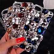 dama brillantes modelos de lujo con el diamante duro de la contraportada para el iphone 4 / 4s (colores surtidos)