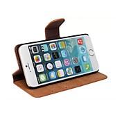 용 아이폰6케이스 / 아이폰6플러스 케이스 카드 홀더 / 스탠드 / 플립 케이스 풀 바디 케이스 단색 하드 인조 가죽 iPhone 6s Plus/6 Plus / iPhone 6s/6