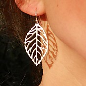 Women's European Fashion Leaf  Alloy Drop Earring (1 Pair)
