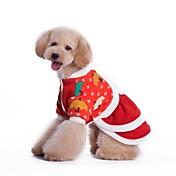 개 드레스 레드 강아지 의류 겨울 코스프레 / 크리스마스