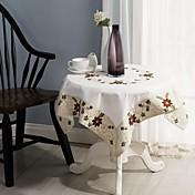 크리스마스 테이블 천 고전적인 자수 식탁보 85 * 85cm