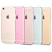Para Funda iPhone 6 / Funda iPhone 6 Plus Transparente Funda Cubierta Trasera Funda Un Color Suave TPU iPhone 6s Plus/6 Plus / iPhone 6s/6
