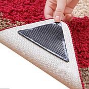 8 조각 놀라운 재사용 가능한 빨 삼각형 미끄럼 미끄럼 방지 매트 그리퍼 카펫 매트 스티커