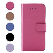Para Funda iPhone 6 / Funda iPhone 6 Plus con Soporte / Flip Funda Cuerpo Entero Funda Un Color Dura Cuero SintéticoiPhone 6s Plus/6 Plus