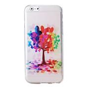 다채로운 나무와 풍선 패턴은 아이폰 6에 대한 소프트 케이스 TPU