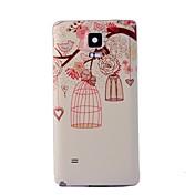 용 Samsung Galaxy Note 패턴 케이스 뒷면 커버 케이스 나무 PC Samsung Note 4