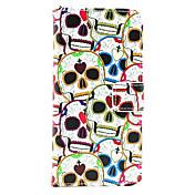cuero amante del cráneo de la PU caso de cuerpo completo con soporte de la tarjeta para el iphone 6
