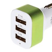 충전 시리즈 5.1A 3 USB 차 충전기 어댑터