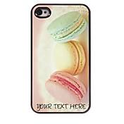 caja del teléfono personalizado - caso del diseño del metal de pan para el iphone 4 / 4s