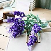 실크 라이트 블루 인공 꽃