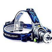 TD286 LED손전등 헤드램프 LED 800 루멘 모드 크리T6 2 x 18650 배터리 조절가능한 초점 충전식 방수 용 캠핑/등산/동굴탐험 사이클링 여행 등산 야외
