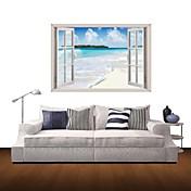 풍경 벽 스티커 3D 월 스티커 데코레이티브 월 스티커 자료 이동가능 홈 장식 벽 데칼
