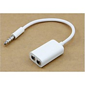 auricular de 3.5mm de audio macho a hembra adaptador de cable del concentrador de 3,5 mm