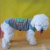 개 티셔츠 / 맨투맨 스웻티셔츠 브라운 강아지 의류 여름 문자와 숫자