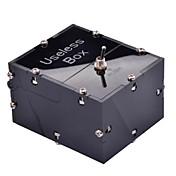 neje 미니 쓸모없는 완전히 조립 기계 상자 장난감은 나에게 혼자 상자 블랙을 떠나