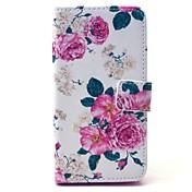 용 삼성 갤럭시 케이스 카드 홀더 / 스탠드 / 플립 / 패턴 / 마그네틱 케이스 풀 바디 케이스 꽃장식 인조 가죽 Samsung A3