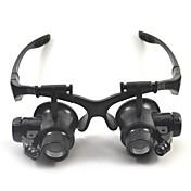 쌍안경 확대 렌즈 고해상도 헤드셋 일반적인 10X / 15X / 20X / 25X 15mm