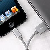 yellowknife® 사과 MFI 케이블 알루미늄 플러그 동기화 및 iphone7 기가 6 충전기 케이블 플러스 자체 5 초 5 / 아이 패드 (100cm)