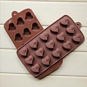 패션 DIY 실리콘 초콜릿 비누 얼음 젤리 푸딩 케이크 몰드 주방 목록 bakeware 조리 도구 (임의의 색상을) 장식