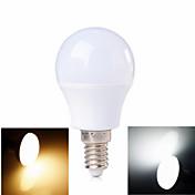 3W E14 LED 글로브 전구 6 SMD 2835 100-200 lm 따뜻한 화이트 / 차가운 화이트 AC 220-240 V 1개