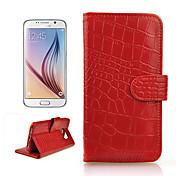 삼성 갤럭시 S6 /의 g920 슬롯 카드 (모듬 된 색상)으로 정품 악어 partern 가죽 지갑 케이스 커버를 angibabe