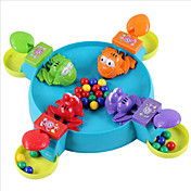 juguetes de los niños, juegos, los pequeños juguetes del bebé del juego de la rana de juguete verdes