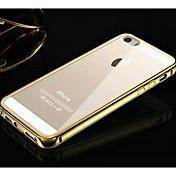 KX 브랜드 황금 버전의 금속 프레임 아크릴 아이폰 5 / 5S 투명 후면 금속 하드 케이스 (모듬 색상)