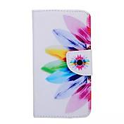 용 삼성 갤럭시 케이스 지갑 / 카드 홀더 / 스탠드 / 플립 케이스 풀 바디 케이스 꽃장식 인조 가죽 Samsung S6 edge