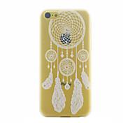 아이폰 5C에 대한 한 Campanula 패턴 PC 소재 휴대 전화 케이스