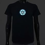 Camisetas LED  Luces LED Activadas Por Sonido Algodón Novedad