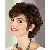 Mujer Pelucas sintéticas Sin Tapa Corto Rizado Las pelucas del traje