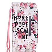 Para Funda iPhone 6 Funda iPhone 6 Plus Carcasa Funda Cartera Soporte de Coche Other Cuerpo Entero Funda Palabra / Frase DuraCuero