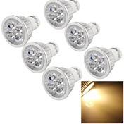 6pcs youoklight® gu10 4w cri = 80 300-350lm energía 4-high llevada 3000k luces llevadas blancas calientes del punto (220-240v)