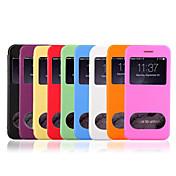 Para Funda iPhone 6 / Funda iPhone 6 Plus con Ventana / Flip / Transparente Funda Cuerpo Entero Funda Un Color Dura Cuero SintéticoiPhone