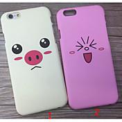 다시 아이폰 용 PC의 경우 후 새로운 귀여운 돼지 6 플러스 / 아이폰 6S 플러스 (모듬 색상)